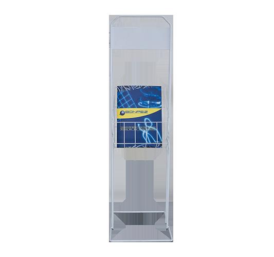 Porta depliant da terra in filo metallico